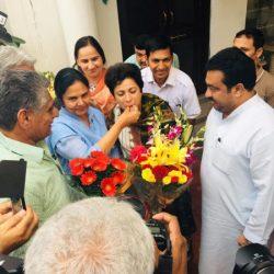 हरियाणा प्रदेश महिला कांग्रेस ने किया कुमारी शैलजा का स्वागत, नारीशक्ति का बढ़ेगा मनोबल
